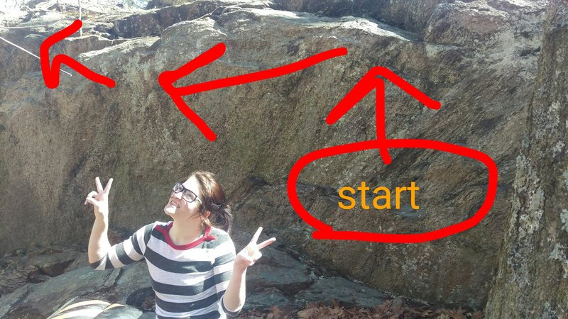 Rock Climbing Photo: At the base of the route. It keeps going a little ...