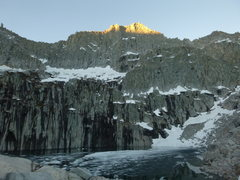 Rock Climbing Photo: Precipice Lake and the North Face of Eagle Scout P...