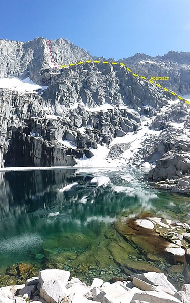 the route, from Precipice Lake