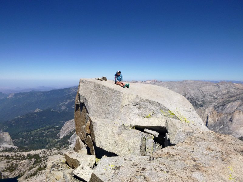 Rock Climbing Photo: summit block of Eagle Scout