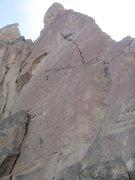 Rock Climbing Photo: Alan, high on Master of Puppets
