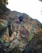 Rock Climbing Photo: Paul warming up.