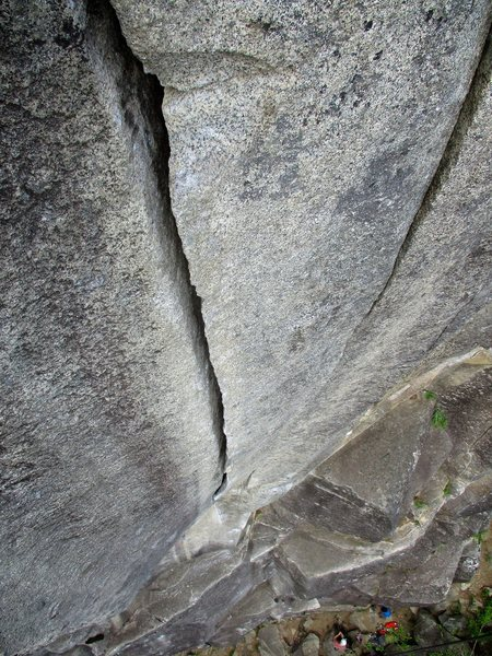 Looking down the awesome hand crack on Thin Fingers.