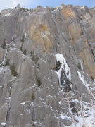 Rock Climbing Photo: FVI winter conditions - climbers mid frame