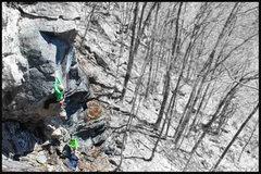 Rock Climbing Photo: Alec climbing and Tyler belaying... A sweet line i...