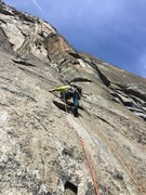 Rock Climbing Photo: P4, setting up for the routes spice crux. upper co...