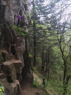 kind of an awkward belay spot but a great climb