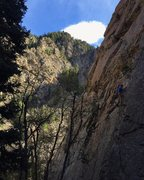 Rock Climbing Photo: Unknown climber next to us