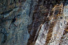 Rock Climbing Photo: John on the entry moves on Henar Lite, on the way ...