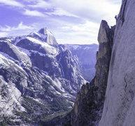 Rock Climbing Photo: Juggin up Watkins during a somewhat wintery push. ...