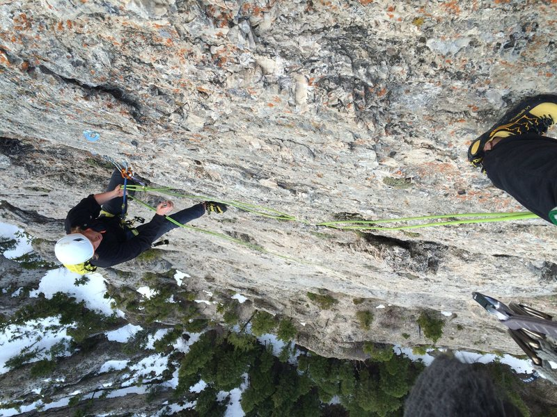 Rock Climbing Photo: Great views to be had - Blake at the top of the 3r...