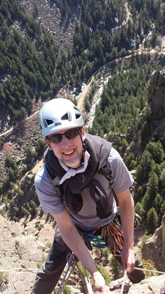 Rock Climbing Photo: top of Green Spur