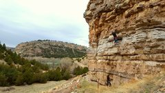 Rock Climbing Photo: Not ready to wave the white flag on Zach Cornwalli...