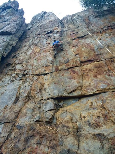 Climbing at Crowders