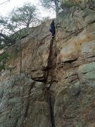 Rock Climbing Photo: Wifey at Crowder's
