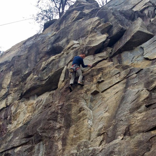 Climbing at Rocky Face