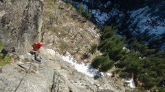 Rock Climbing Photo: Steph Abegg on upper Iconoclast.