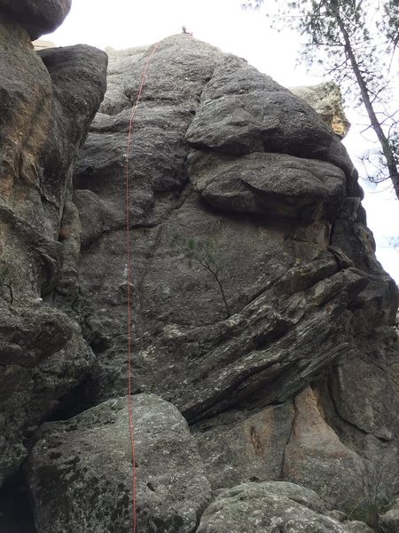 Rock Climbing Photo: Rope is on the line