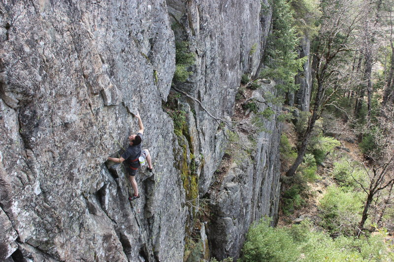 Rock Climbing Photo: Eli flashing