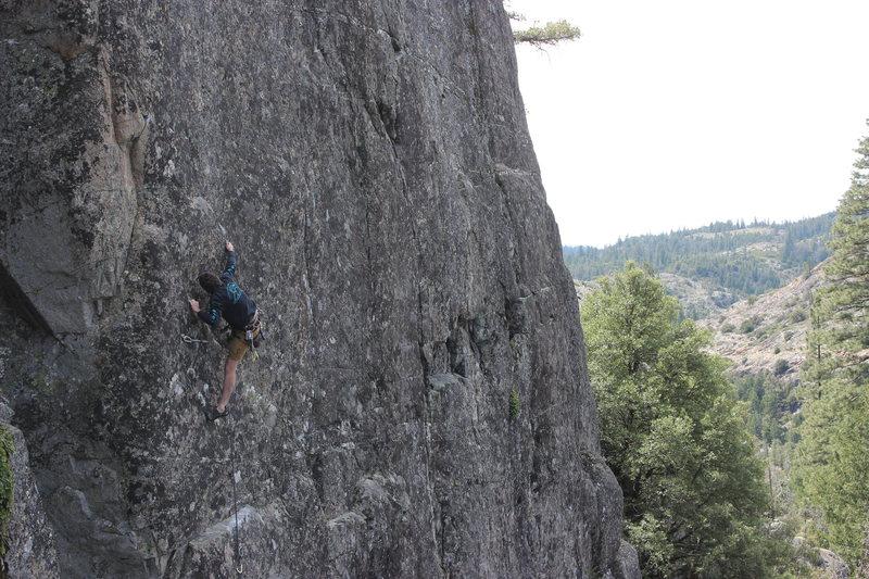 Rock Climbing Photo: Brad Johnson crushing the sequence