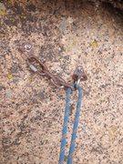 Rock Climbing Photo: The anchor bolts.