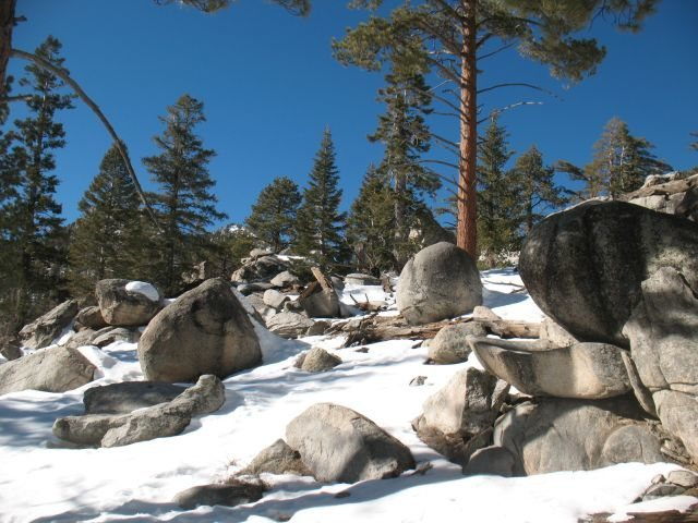 Winter at the Trailside Boulders, Tramway