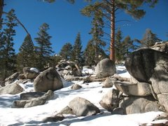 Rock Climbing Photo: Winter at the Trailside Boulders, Tramway