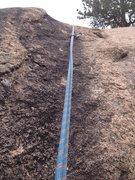 Rock Climbing Photo: Upper Black Streak