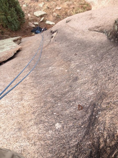 Rock Climbing Photo: Looking down Black Streak
