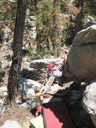 Rock Climbing Photo: The Wormhole (V3), Tramway