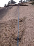 Rock Climbing Photo: Upper black streak area.