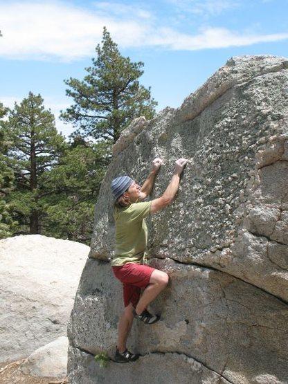 Rock Climbing Photo: Knobby rock, Tramway
