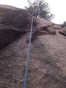 Rock Climbing Photo: Upper crux area.