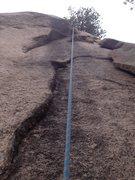 Rock Climbing Photo: Lower Black Streak.