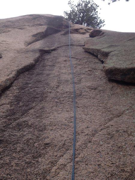 Rock Climbing Photo: Black Streak climb.