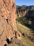 Rock Climbing Photo: The tenuous traverse (P2)