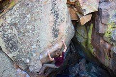 Rock Climbing Photo: Bumping along the rail. (Bumping right hand to the...