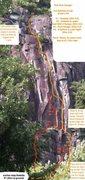 Rock Climbing Photo: Topo from original post
