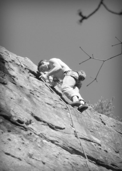 Clipping anchors. Great climb!