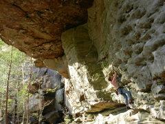 Rock Climbing Photo: Starting Pet Semetery.