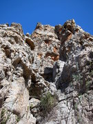 Rock Climbing Photo: Looking up at the Pinnacle, pitch 2 and 3