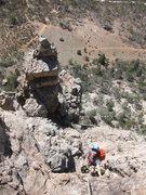 Rock Climbing Photo: Looking down at the Pinnacle, pitch 2
