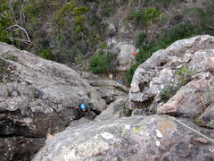 Rock Climbing Photo: Emma coming up