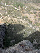Rock Climbing Photo: Looking down from atop pitch 3