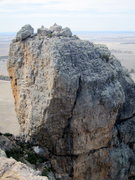 Rock Climbing Photo: From Dunes Buttress, Thunder Crack is the obvious ...