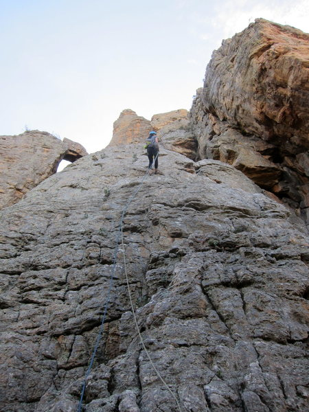 Rock Climbing Photo: 60m rope gets you down, no problem