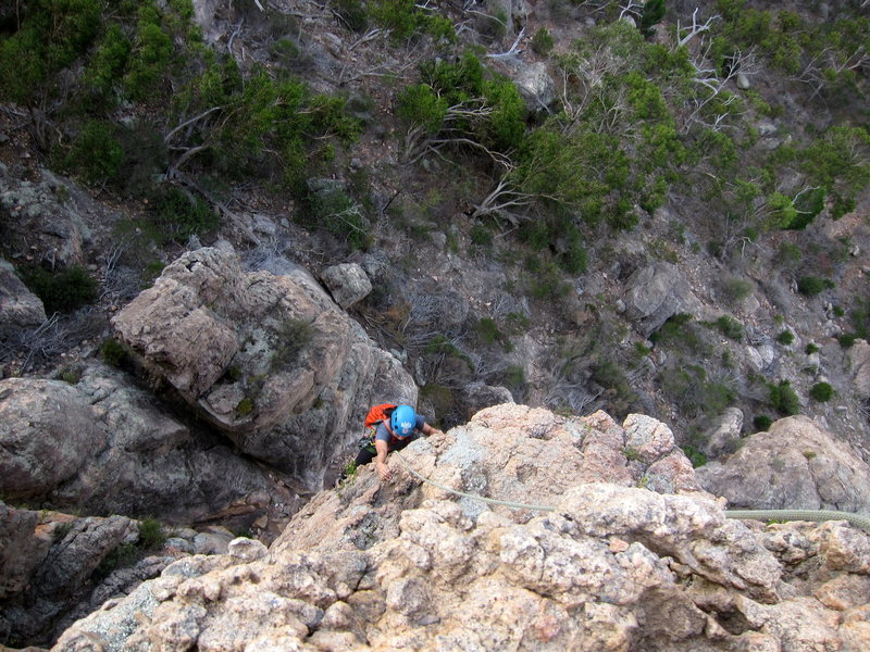 Rock Climbing Photo: Emma topping out