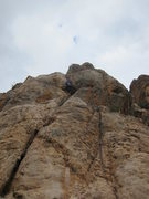 Rock Climbing Photo: On lead