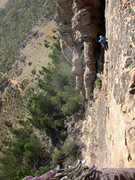 Rock Climbing Photo: Emma coming up pitch 2