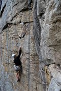 Rock Climbing Photo: Just clipped the 5th bolt on Narcissism. About to ...